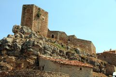Castle Puertomingalvo Stock Image