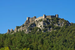 Castle Puilaurens in France Stock Images