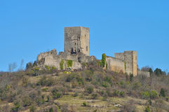 Castle Puivert in France Stock Photos