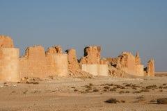 Castle of qasr al-hayr al-sharqi. Ruins of the castle of qasr al-hayr al-sharqi in the syrian desert royalty free stock photo
