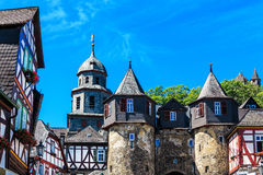 Castle and quaint half-timbered houses in Braunfels, Germany Stock Photos