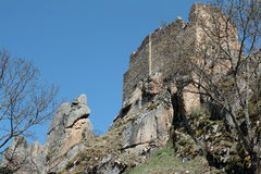 Castle of Querigut in Pyrenees Royalty Free Stock Photography