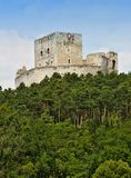 Castle Rabi. The ruins of castle Rabi in the Czech Republic Royalty Free Stock Photos