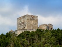 Castle Rabi. The ruins of castle Rabi in the Czech Republic Stock Photography