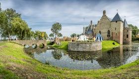 Castle Radboud in Medemblik, Netherlands. Panorama Stock Photos