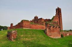 Castle in Radzyn Chelminski, Poland stock images