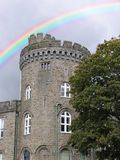 Castle Rainbow. A castle with a computer generated rainbow Royalty Free Stock Photo