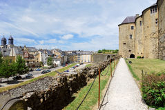 Castle rampart and town Sedan, France Royalty Free Stock Photo