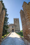 Castle of Rancia, near Tolentino Stock Image