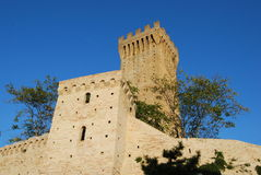 Castle in Recanati Stock Photo