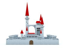 Castle with red roof Stock Images