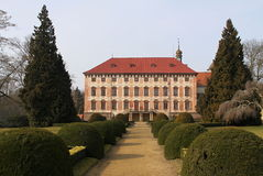 Castle with red roof Royalty Free Stock Images