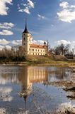 Castle with reflection. Mariental Castle with reflection in river water in an early spring day Royalty Free Stock Images