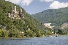 Castle Reichenstein (Middle Rhine Valley). Castle Reichenstein near Trechtingshausen in the Middle Rhine Valley, Rhineland-Palatinate, Germany royalty free stock photography