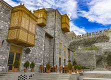 Castle Rest Place, Georgia, May.2017. Castle Rest Place, Reconstructed Medieval Castle, Historical Heritage of Georgia, Rabati, Akhlatsikhe, Georgia, May.2017 Stock Photography