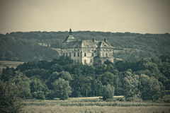 Castle in retro style Royalty Free Stock Photos