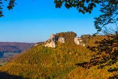 Castle Reussenstein το φθινόπωρο Στοκ φωτογραφία με δικαίωμα ελεύθερης χρήσης