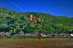 Castle on Rhine. Royalty Free Stock Photos