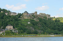 Castle on the Rhine River Royalty Free Stock Photos