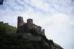 Castle in the Rhine Valley Royalty Free Stock Photo