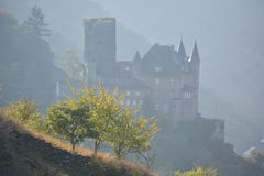 Castle in rhine valley royalty free stock image