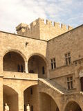 Castle in Rhodes. Old medieval castle in Rhodes royalty free stock photos