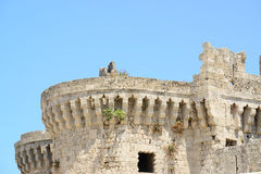 Castle in Rhodes Greece - The Palace of the Grand Master Royalty Free Stock Photos