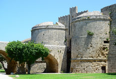 Castle in Rhodes Greece - The Palace of the Grand Master Stock Photography