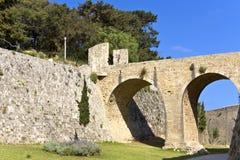 Castle of Rhodes island in Greece Stock Image