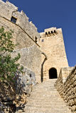 Castle at Rhodes island in Greece Stock Image