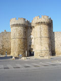 Castle of Rhodos. One entrance of the castle of Rhodos island in greece royalty free stock image