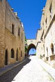 Castle Rhodos Greece Street Stock Photography