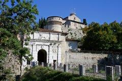 Castle Ricetto in Brescia Stock Image