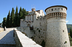 Castle Ricetto in Brescia Royalty Free Stock Photos