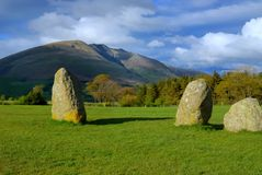 Castle Rigg Stone Circle, Keswick, UK Royalty Free Stock Photos