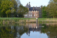 Castle at River Oude IJssel Stock Image