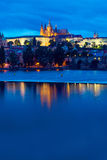 The castle and river Vltava Stock Photos