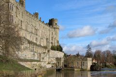 Castle on a River Royalty Free Stock Image