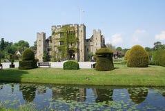 Castle at riverside. Hever castle, Kent, England Stock Photos