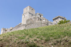 The castle Rocca Maggiore in the town of Assisi, Italy Royalty Free Stock Image