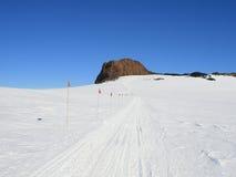 Castle rock, île de Ross, Antarctique Images libres de droits