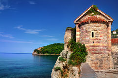 Castle on the rock. The castle on the rock of the sea royalty free stock photography