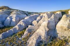 Castle Rock in de prairie van Kansas - luchtmening royalty-vrije stock foto