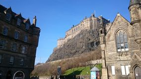 Castle Rock, Edinburgh. The famous castle of Edinburgh is a magnificent tourist attraction Stock Images