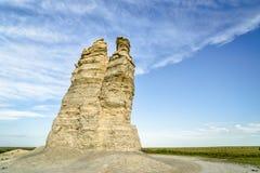 Castle Rock in Kansas prairie Royalty Free Stock Images