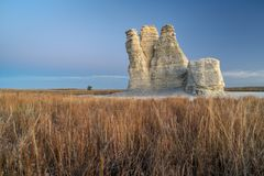Castle Rock in Kansas prairie Royalty Free Stock Photos