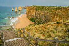 Castle Rock lookout on the Great Ocean Road stock image