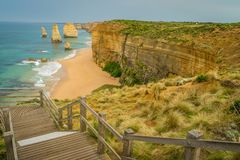 Castle Rock lookout on the Great Ocean Road royalty free stock photography