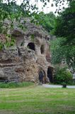 Castle Rock Nottingham immagine stock