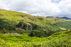 Castle Rock over Thirlmere Royalty Free Stock Photography